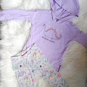 Oshkosh baby girl 24 months 2 piece hoodie outfit